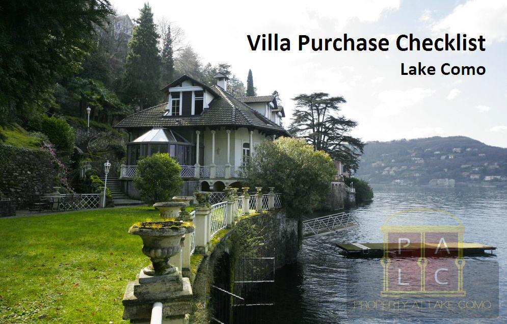 Checklist to Pick Best Villa for Sale in Lake Como