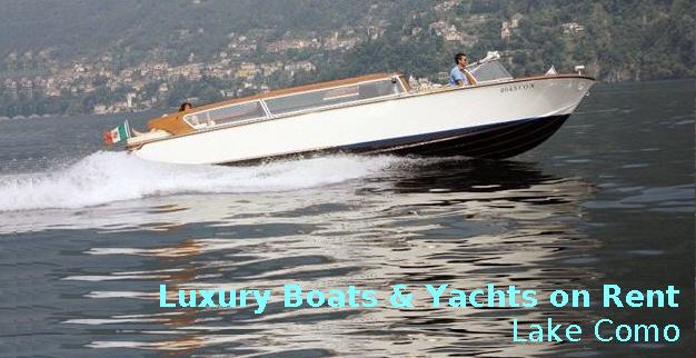 Delightful Luxury Boats & Yachts on Rent in Lake Como, Italy