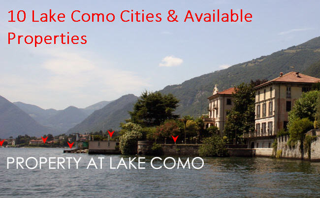 10 Lake Como Cities & Their Homes and Villas to Rent & Sell