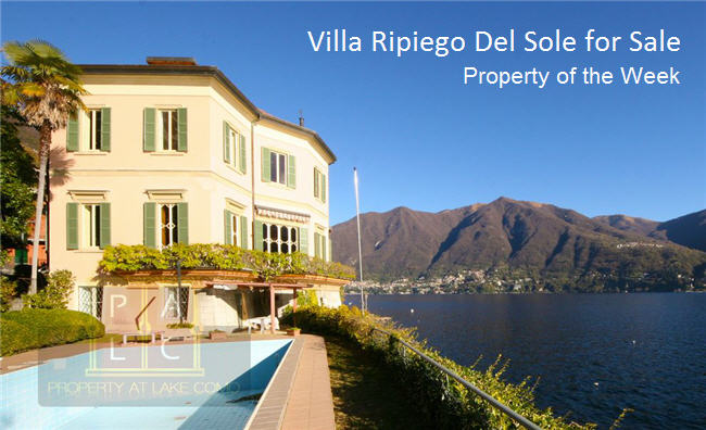 Property of the Week – Lakefront Villa Ripiego del Sole for Sale