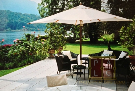 waterfront terrace on villa for rent lake Como