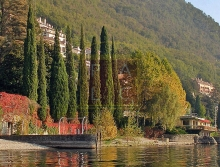 waterfront villa in Varenna with view to Bellagio Lake Como
